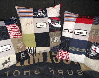 Memory Pillow Cover, Keepsake Pillow Cover, Bereavement Pillow, Homemade Pillow Cover