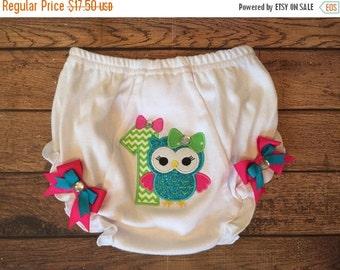 Owl 1st Birthday Diaper Cover
