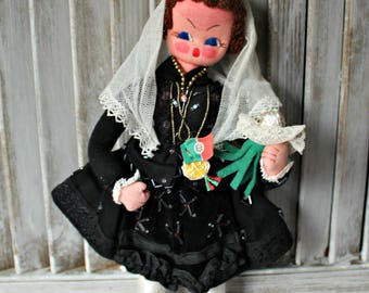Made in Portugal. Vintage. Handmade doll.