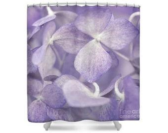 Purple Flower Shower Curtain, Botanical Bathroom, Petals, Flower Photography, Nature, Macro Photography, Purple, Lilac, Lavender -NO. 0968