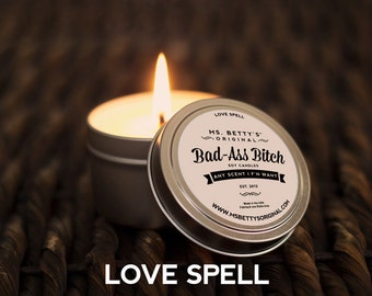 Ms. Betty's Original Bad Ass Bitch Travel Candle - Love Spell