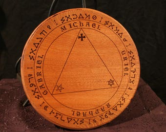 Trithemius Table of Practice - Engraved, Solid Wood