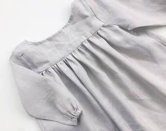 Babydoll Dress in Cloud Linen