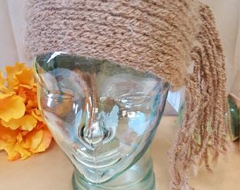 Head warmer.  Hand made alpaca yarn.Hand knit.
