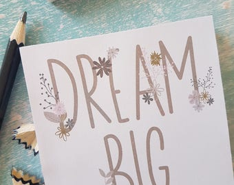 Dream Big Memo Pad- Perfect Stocking Filler!