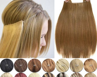 Wire hair extensions etsy 20 100g magic halo miracle wire remy human hair extensions 20 pmusecretfo Choice Image