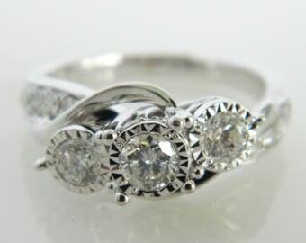 Beautiful 14K White Gold .50 Carat Diamond Engagement Ring