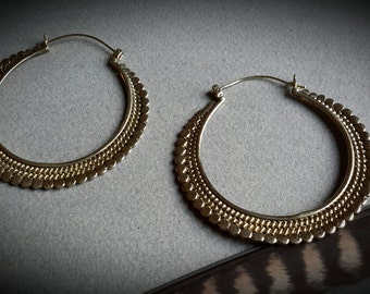 brass earrings *big dots*