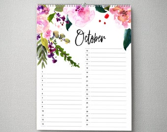 Perpetual Calendar, 11x14, Calendar, cal0046