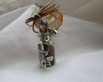 Woodland faerie wishes powder  pendant