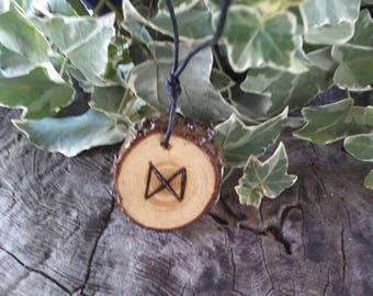 Rune Necklace - Rune Pendant -  Dagaz - Talisman Necklace - Success - Rune Jewelry