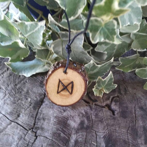 Rune Necklace - Rune Pendant -  Dagaz - Talisman Necklace - Success - Rune Jewelry