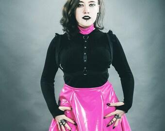 Pink PVC Fetish/Goth Harness Dress