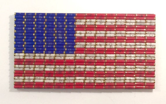 Shotgun Shell American Flag 39 x 21