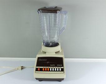 Vintage Osterizer Blender With 8 Speeds Retro Cream Coloured Osterizer Blender Osterizer Mixer