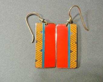 Laurel Burch Festivity Earrings, Laurel Burch Red earrings, Laurel Burch geometic earrings, Laurel Burch tribal earrings, laurel african