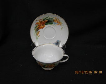 Danbury Mint Wildflowers of America  (Rosenthal) Cup & Saucer - Jack In the Pulpit