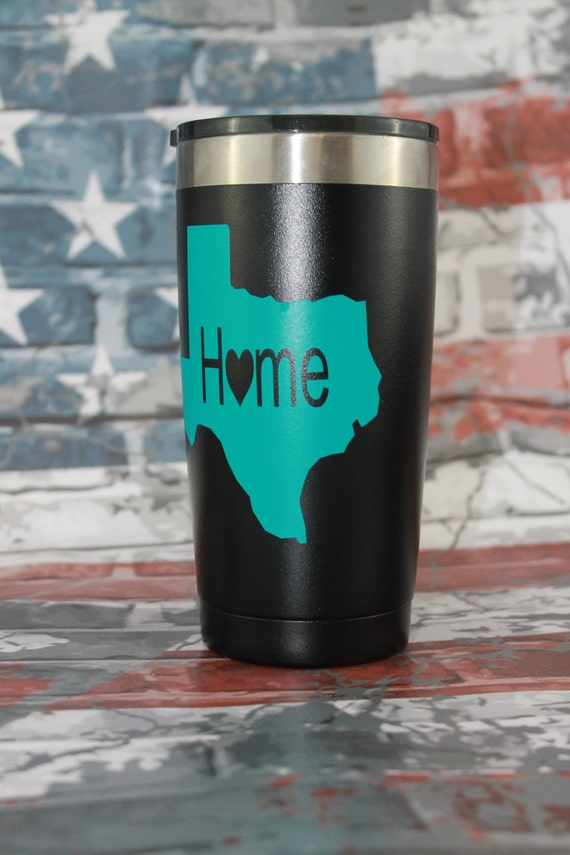 tumbler decal, Texas Decals, cup, yeti ozark, 30 oz decal, 20 oz decal, decals for women, Decals, state vinyl sticker, monogram sticker