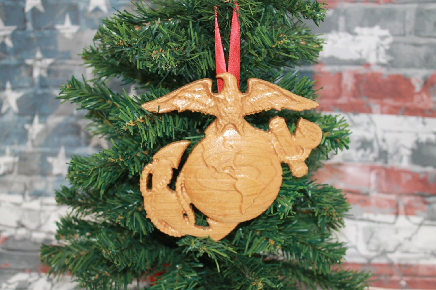 US Marine Corps, Wood Ornament, marine corps gifts, Marine ...