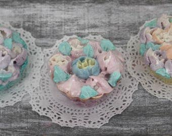 soap cupcake, piped soap, cold process soap, cake soap, handmade soap, cupcake soap, decor soap, sapone, gift soap, Christmas soap, favors,