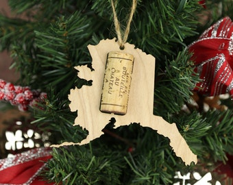 Items similar to Wine Cork Christmas Tree Ornament on Etsy
