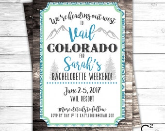 Wild West Bachelorette Party Invitation