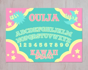 Kawaii Ouija Board Illustration A3 Archival Fine Art Print