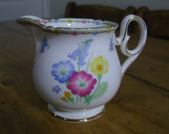 Shelley Bluebells and Primroses Creamer / Milk Jug