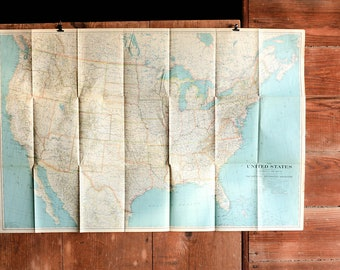 Vintage Europe Map Poster Central Europe Map Push Pin Travel - Travel europe from us map