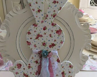 SALE  Dainty Pink Rose Bunny