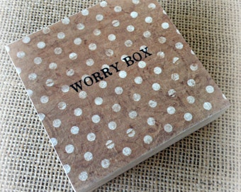 Worry Box - Vintage Polka Dot Design - Children & Adults - Handmade with Love in England