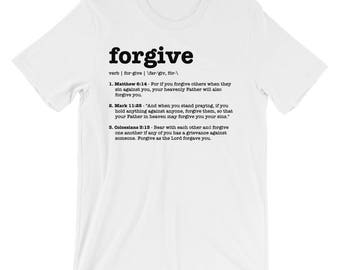 Christian T Shirts Forgive Definition '15 - Christian Clothing - Jesus Shirt - Christian Apparel - Christian Gifts - Gift for Men