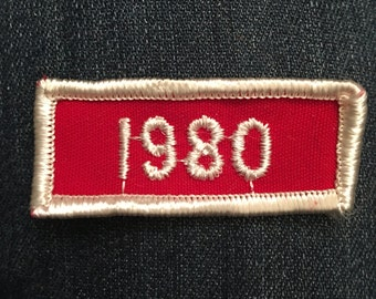 Vintage 1980 dated rocker patch - scout sports school