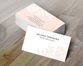 Printed Business Card for Spa, beauty salon, Landscape Artist business card, Calling card