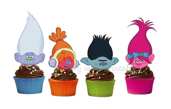 Trolls Printable Cupcake Toppers
