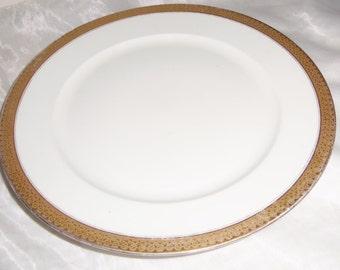 Dinner Plate Schleiger by CH Field Haviland Limoges Gold Trim GDA France