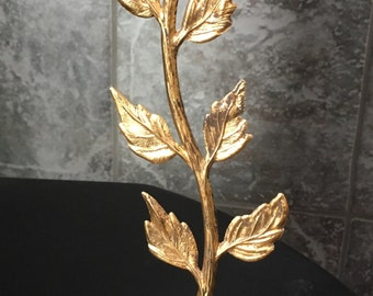 Vintage Brass Flower Candle Holder Tall Home Decor Table Setting Wedding
