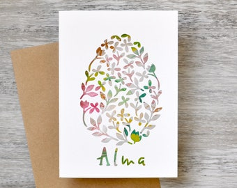 Personalised Easter Egg Paper Cut Greeting Card