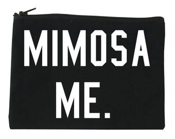 Mimosa Me Makeup Bag by Fashionisgreat - 3 Sizes Available S/M/L Black