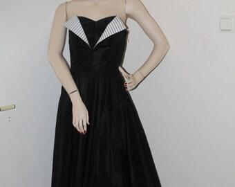 50s Black Party Dress