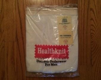 Vintage 1970's Healthknit Long John Long Underwear S 30 - 32 NOS DEADSTOCK