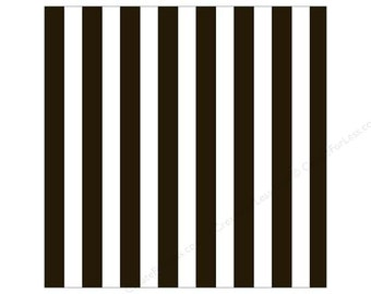 Canvas Corp 12 x 12 in. Paper Black & White Big Stripe