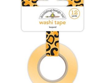 Doodlebug Design - At the Zoo Collection - Washi Tape - Leopard
