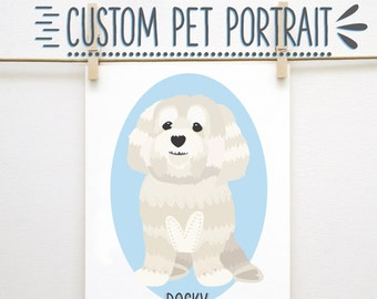 Custom Dog Portrait, Custom Dog Portrait, Pet Illustration, Dog Illustration, Custom Gift, Dog Present, Personalized, Custom Illustration