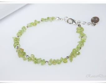 Peridot bracelet gemstone olives Peridot green delicate bracelet for you