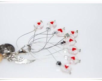 8 marker heart heart wire loop markers knitting knitting marker stitch marker