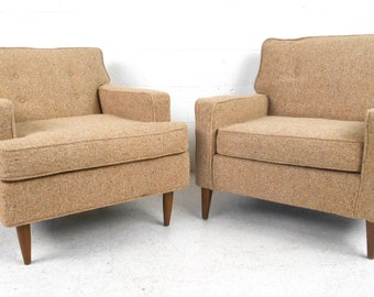 Pair Mid-Century Modern Lounge Chairs (1333)JR