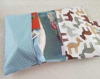 Gender Neutral Baby Gift | Deer Diaper Bag | Diaper Bag Organizer | Diaper Clutch | Gender Neutral Diaper Bag | Small Diaper Bag | Nappy Bag