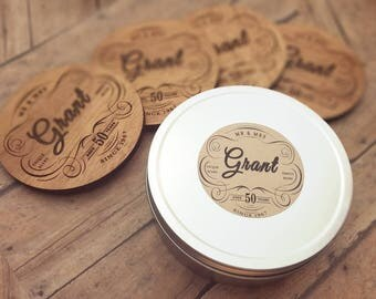 6th Anniversary Gift Coasters, Personalized Wood Coasters,  Customize for Any Anniversary
