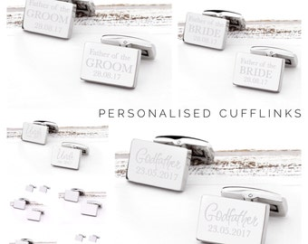 Mens Gifts | Personalized Cufflinks | Mens cufflinks | Gift Ideas for Men | Godfather Cufflinks